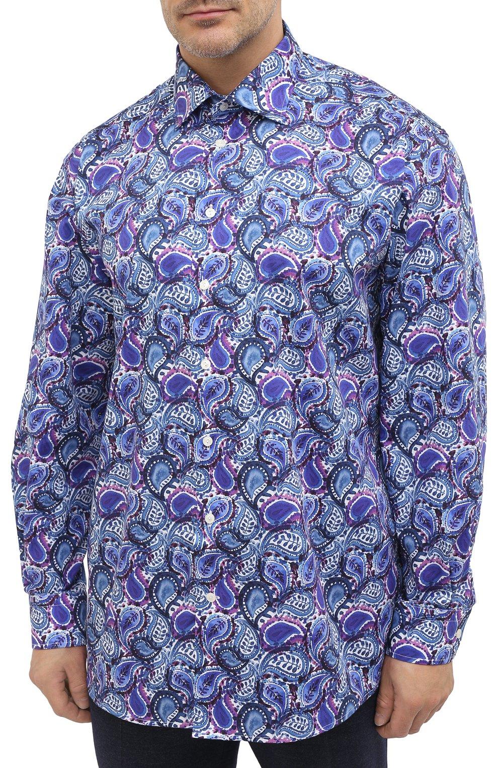Мужская хлопковая рубашка ETON синего цвета, арт. 1000 01440 | Фото 3