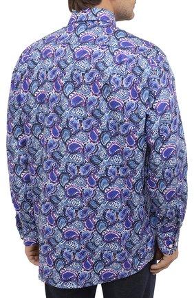 Мужская хлопковая рубашка ETON синего цвета, арт. 1000 01440 | Фото 4