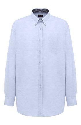 Мужская хлопковая рубашка PAUL&SHARK синего цвета, арт. I20P3064/C00/48-50   Фото 1