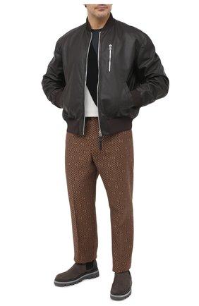 Мужской кожаный бомбер BOTTEGA VENETA темно-коричневого цвета, арт. 626551/VKVL0 | Фото 2