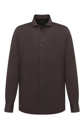 Мужская хлопковая рубашка VAN LAACK коричневого цвета, арт. M-PER-L/180031/3XL | Фото 1