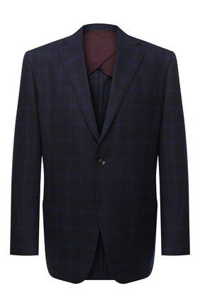 Мужской шерстяной пиджак LUCIANO BARBERA темно-синего цвета, арт. 111P25/19128/58-62 | Фото 1