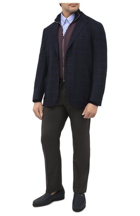 Мужской шерстяной пиджак LUCIANO BARBERA темно-синего цвета, арт. 111P25/19128/58-62 | Фото 2