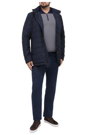 Мужское поло из кашемира и шелка KITON синего цвета, арт. UK1106/4XL-8XL | Фото 2