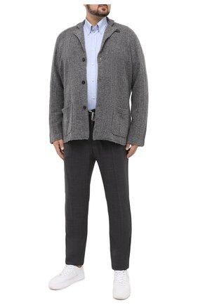 Мужской шерстяные брюки MARCO PESCAROLO серого цвета, арт. CARACCI0L0/4231 | Фото 2
