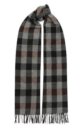 Мужской кашемировый шарф ANDREA CAMPAGNA темно-серого цвета, арт. 632349/SCARF | Фото 1