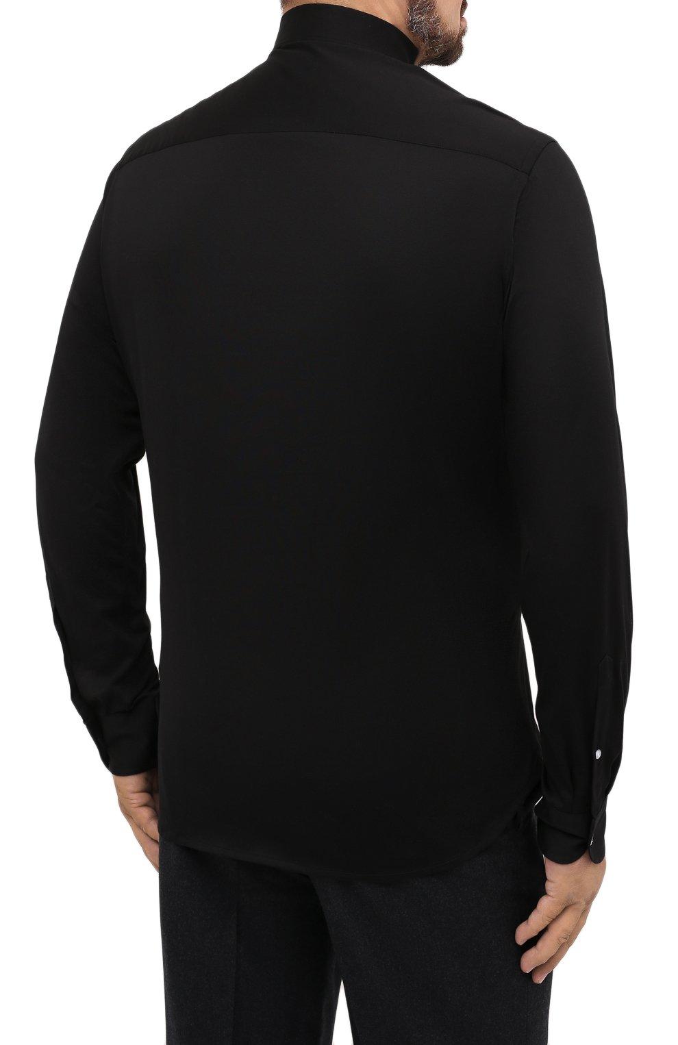 Мужская хлопковая сорочка SONRISA черного цвета, арт. IFJ7167/J133/47-51 | Фото 4