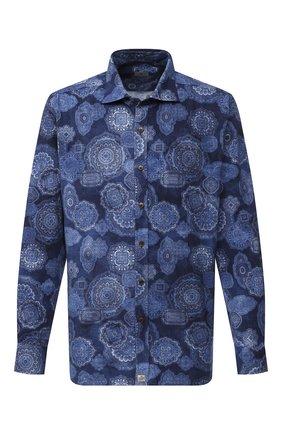Мужская хлопковая рубашка SONRISA синего цвета, арт. IL4VE/BC/LV1108/47-51 | Фото 1