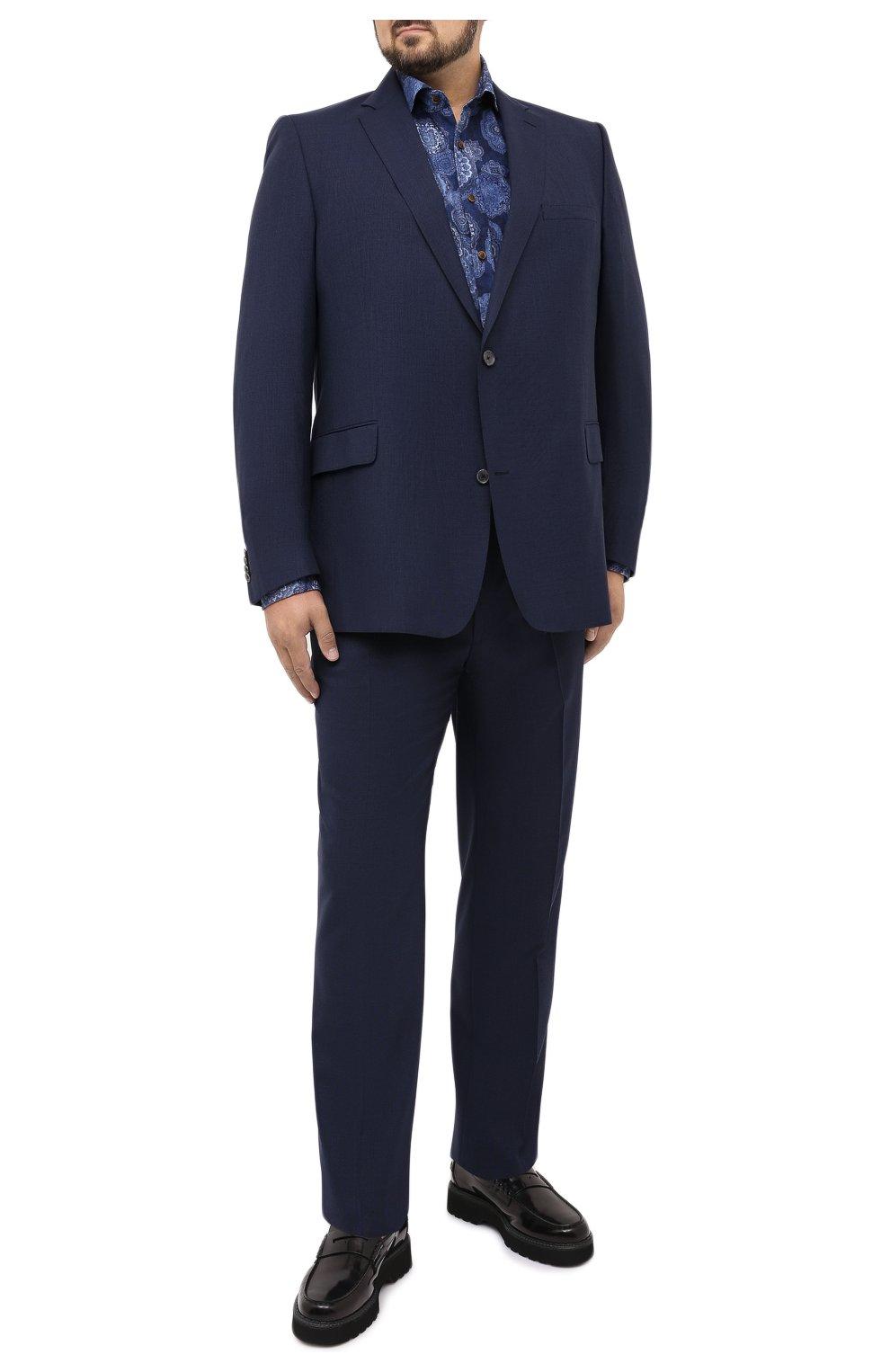Мужская хлопковая рубашка SONRISA синего цвета, арт. IL4VE/BC/LV1108/47-51 | Фото 2