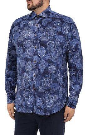 Мужская хлопковая рубашка SONRISA синего цвета, арт. IL4VE/BC/LV1108/47-51 | Фото 3