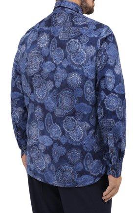 Мужская хлопковая рубашка SONRISA синего цвета, арт. IL4VE/BC/LV1108/47-51 | Фото 4