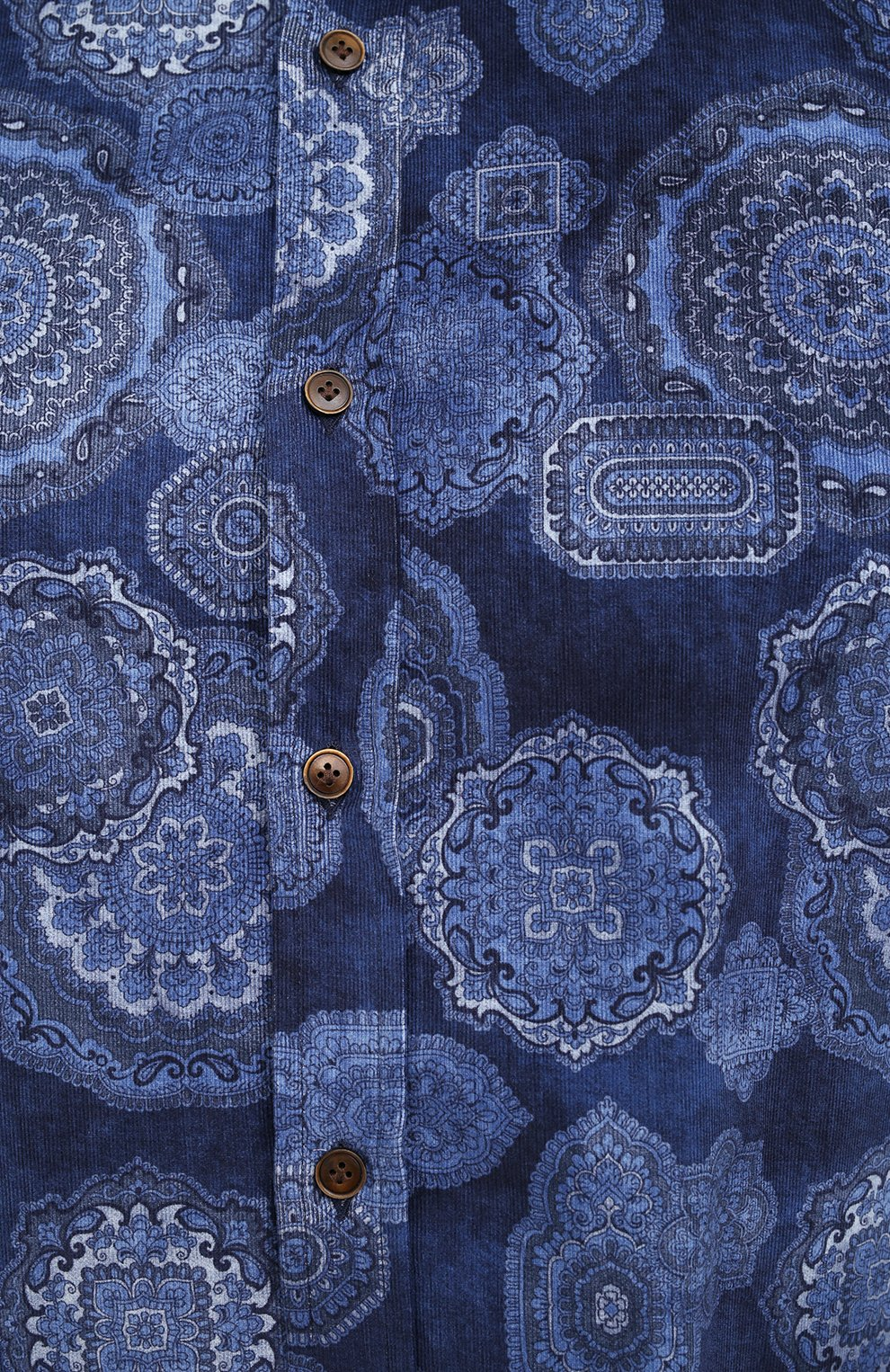 Мужская хлопковая рубашка SONRISA синего цвета, арт. IL4VE/BC/LV1108/47-51 | Фото 5