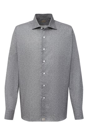 Мужская хлопковая рубашка SONRISA серого цвета, арт. IL7/L1084/47-51 | Фото 1