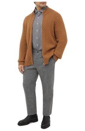 Мужская хлопковая рубашка SONRISA серого цвета, арт. IL7/L1084/47-51 | Фото 2