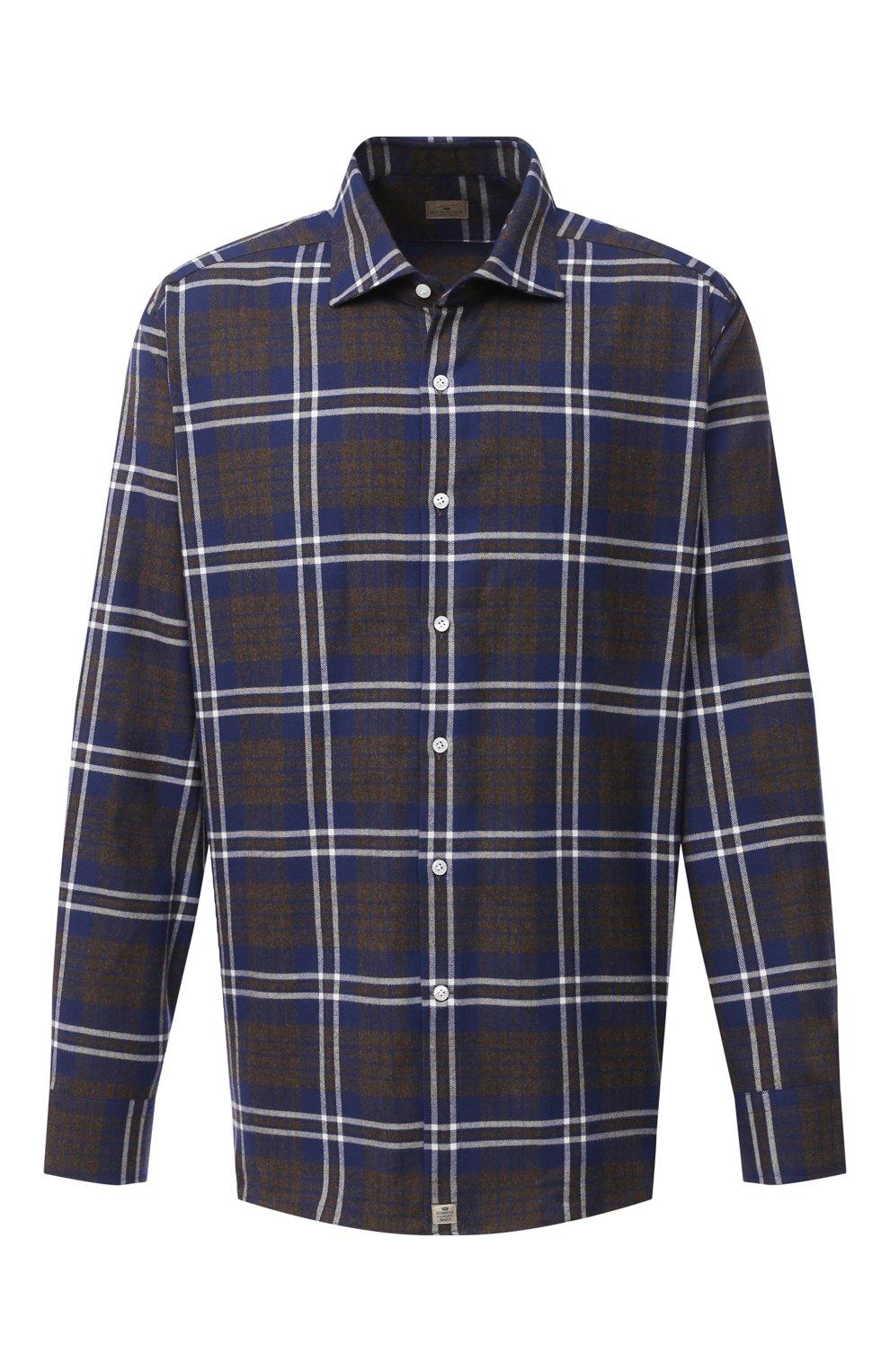 Мужская хлопковая рубашка SONRISA синего цвета, арт. IL7/L1093/47-51 | Фото 1