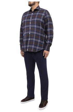 Мужская хлопковая рубашка SONRISA синего цвета, арт. IL7/L1093/47-51 | Фото 2