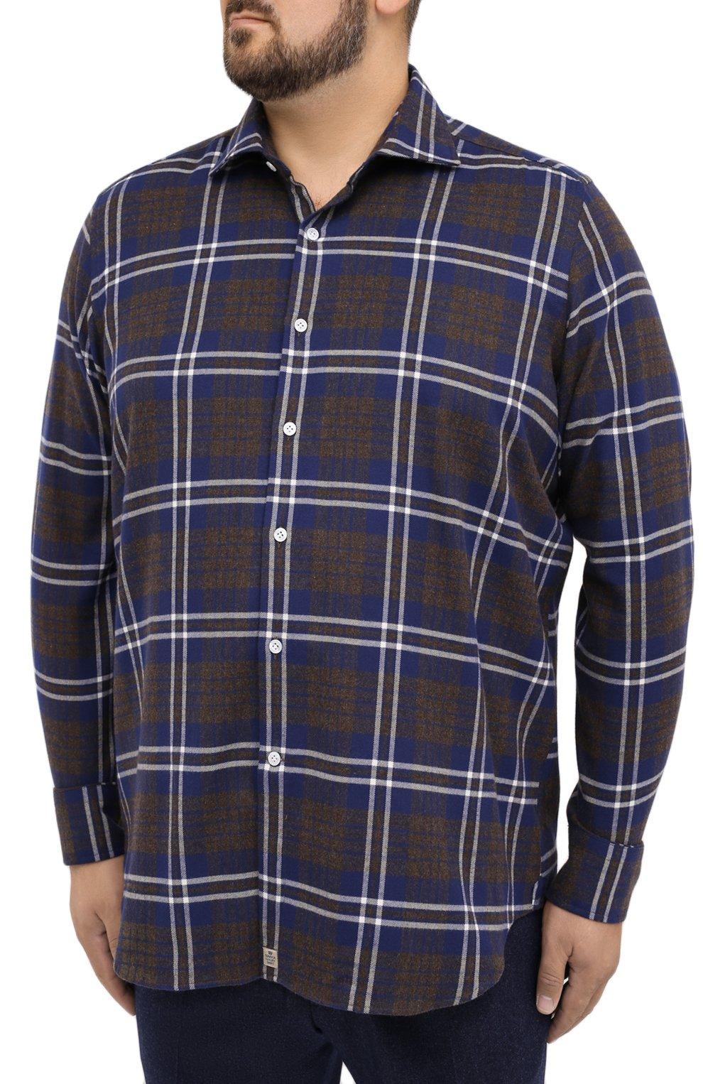 Мужская хлопковая рубашка SONRISA синего цвета, арт. IL7/L1093/47-51 | Фото 3