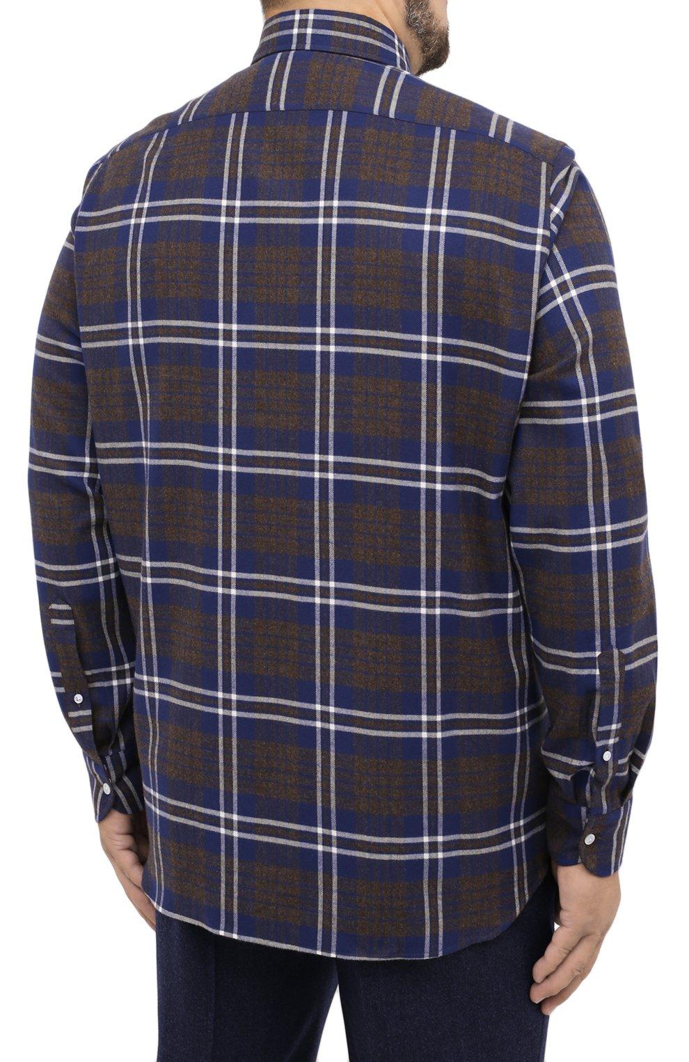 Мужская хлопковая рубашка SONRISA синего цвета, арт. IL7/L1093/47-51 | Фото 4