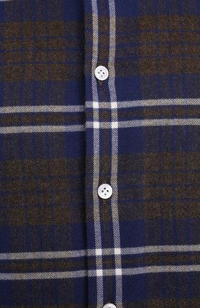 Мужская хлопковая рубашка SONRISA синего цвета, арт. IL7/L1093/47-51 | Фото 5