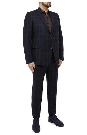 Мужской шерстяной костюм EDUARD DRESSLER синего цвета, арт. N282/16053 | Фото 1