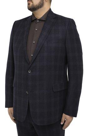 Мужской шерстяной костюм EDUARD DRESSLER синего цвета, арт. N282/16053 | Фото 2