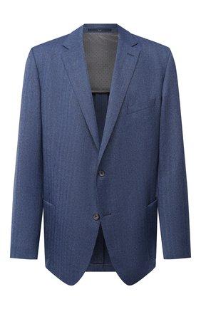 Мужской шерстяной пиджак EDUARD DRESSLER синего цвета, арт. 6461/26006 | Фото 1