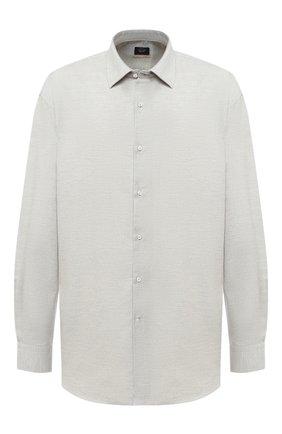 Мужская рубашка из хлопка и кашемира PAUL&SHARK серого цвета, арт. I20P3040CF/FQZ/48-50   Фото 1