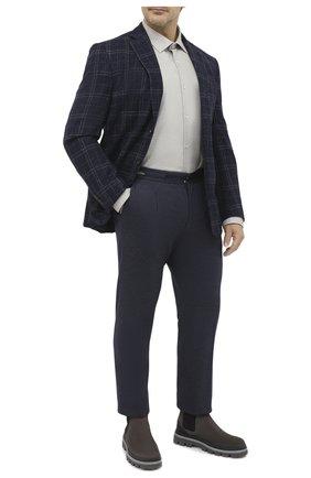 Мужская рубашка из хлопка и кашемира PAUL&SHARK серого цвета, арт. I20P3040CF/FQZ/48-50   Фото 2