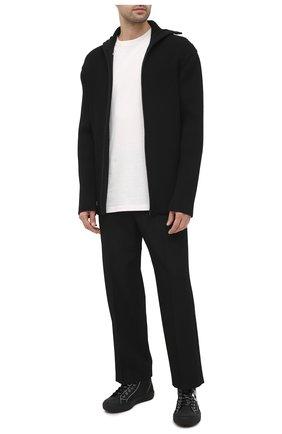 Мужские текстильные кеды valentino garavani giggies VALENTINO черного цвета, арт. UY0S0D51/SPU   Фото 2