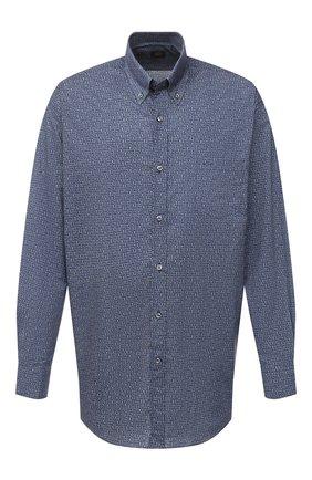 Мужская хлопковая рубашка PAUL&SHARK серого цвета, арт. I20P3136/C00/48-50 | Фото 1