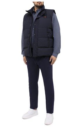 Мужская хлопковая рубашка PAUL&SHARK серого цвета, арт. I20P3136/C00/48-50 | Фото 2