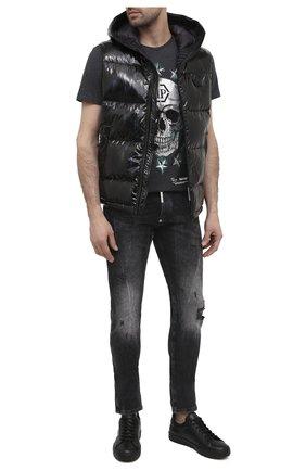 Мужские кожаные кеды PHILIPP PLEIN черного цвета, арт. F20S MSC2577 PLE075N | Фото 2