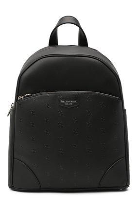 Мужской кожаный рюкзак BILLIONAIRE черного цвета, арт. W20A MBA0954 BLE029N | Фото 1