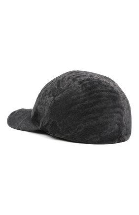 Мужской бейсболка из меха каракуля KUSSENKOVV серого цвета, арт. 387100008003 | Фото 2