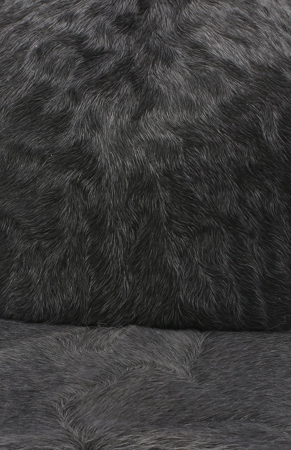Мужской бейсболка из меха каракуля KUSSENKOVV серого цвета, арт. 387100008003 | Фото 3