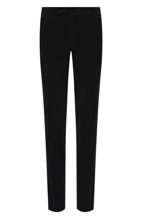 Мужские брюки из хлопка и кашемира ERMENEGILDO ZEGNA темно-синего цвета, арт. 865F06/77TB12 | Фото 1