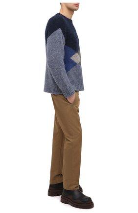 Мужской хлопковые брюки ISABEL MARANT хаки цвета, арт. PA1118-20A014H/TULCEN | Фото 2