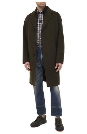 Мужская хлопковая рубашка LUIGI BORRELLI коричневого цвета, арт. EV08/NAND0/TS30016 | Фото 2
