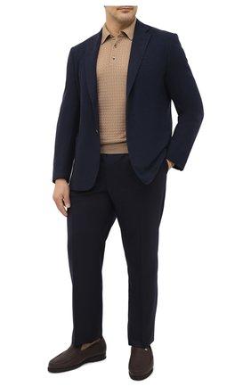 Мужское поло из кашемира и шелка SVEVO бежевого цвета, арт. 06253SA20/MP06/2   Фото 2