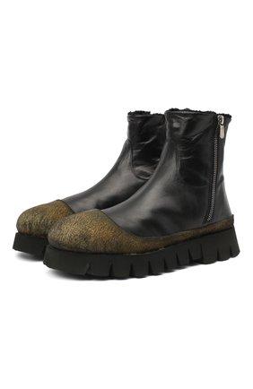 Мужские кожаные сапоги ROCCO P. черного цвета, арт. 9303/TRIP0N | Фото 1