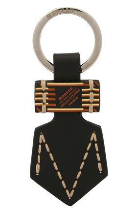 Мужской кожаный брелок MOREAU черного цвета, арт. PCLEMP/B0I0STSTC | Фото 1