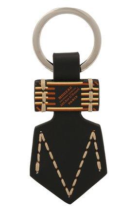 Мужской кожаный брелок MOREAU черного цвета, арт. PCLEMP/B0I0STSTC | Фото 2