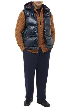 Мужской шерстяные брюки CANALI синего цвета, арт. C0759B/MK00982 | Фото 2