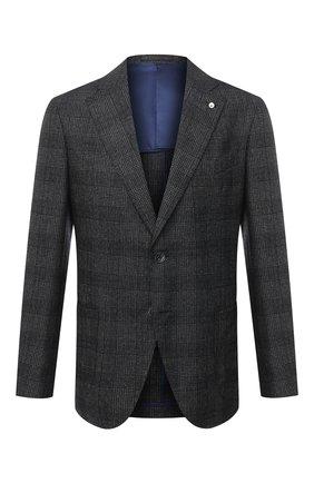 Мужской шерстяной пиджак L.B.M. 1911 темно-серого цвета, арт. 2411/03103   Фото 1