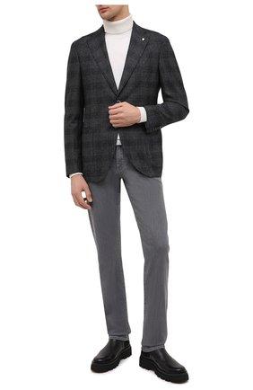 Мужской шерстяной пиджак L.B.M. 1911 темно-серого цвета, арт. 2411/03103   Фото 2