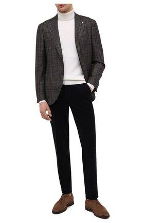 Мужской пиджак из шерсти и кашемира L.B.M. 1911 коричневого цвета, арт. 2411/02139 | Фото 2