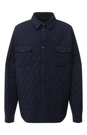 Мужская утепленная куртка BRIONI темно-синего цвета, арт. SGND0L/09A20 | Фото 1 (Материал подклада: Синтетический материал; Материал внешний: Шерсть; Рукава: Длинные; Мужское Кросс-КТ: Верхняя одежда, шерсть и кашемир, утепленные куртки; Big sizes: Big Sizes; Стили: Кэжуэл; Кросс-КТ: Куртка; Длина (верхняя одежда): До середины бедра)