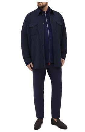 Мужская утепленная куртка BRIONI темно-синего цвета, арт. SGND0L/09A20 | Фото 2 (Материал подклада: Синтетический материал; Материал внешний: Шерсть; Рукава: Длинные; Мужское Кросс-КТ: Верхняя одежда, шерсть и кашемир, утепленные куртки; Big sizes: Big Sizes; Стили: Кэжуэл; Кросс-КТ: Куртка; Длина (верхняя одежда): До середины бедра)