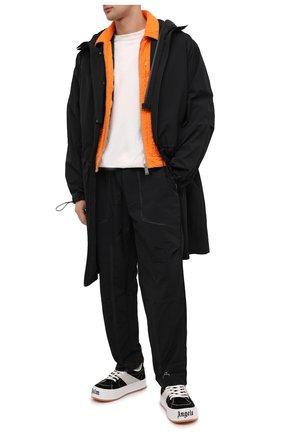 Мужские замшевые кеды PALM ANGELS черного цвета, арт. PMIA051F20LEA0011001 | Фото 2