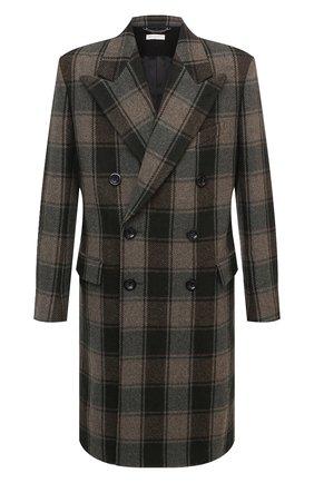 Мужской шерстяное пальто DRIES VAN NOTEN хаки цвета, арт. 202-20209-1132 | Фото 1